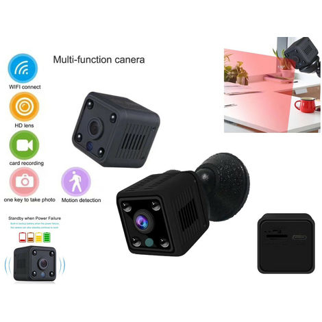 Telecamera Nascosta Microcamera Detection Spy WiFi IP HD 960P SD 4 LED