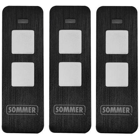 TÉLÉCOMMANDE 2 CANAUX S10019 PEARL TWIN (LOT DE 3) - SOMMER
