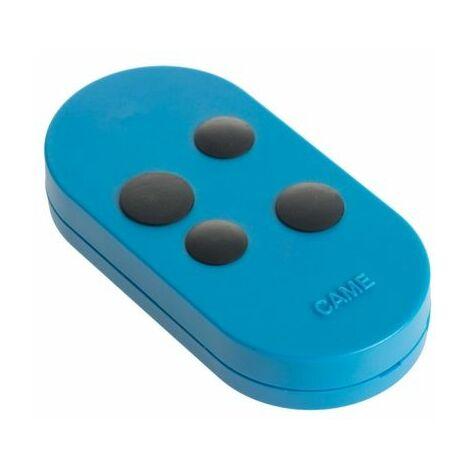 Télécommande 4 canaux Came TOPD4FBS à code fixe bleu à double fréquence