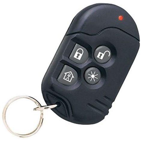 Télécommande alarme 4 Boutons Visonic KF-234 PG2 - Noir