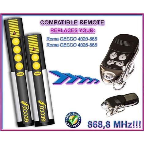 Telecommande compatible avec: ROMA GECCO 4020 / ROMA GECCO 4026 , 4 canaux 868,8Mhz