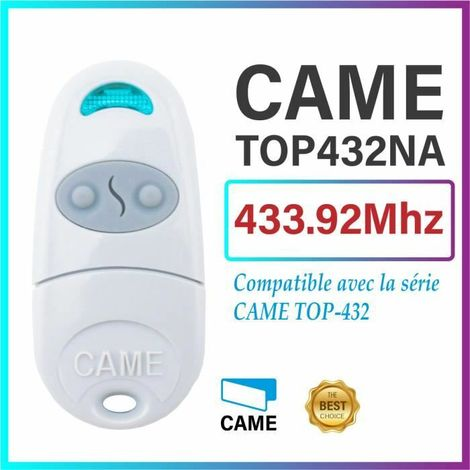Telecommande d'origine Came TOP432NA. Frequence de code fixe 433,92 MHz. FCC ID: M48TOP-NA