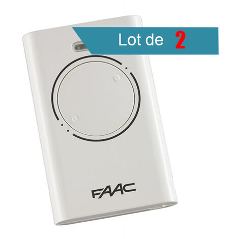 Télécommande FAAC XT2 433 SLH BLANC Pack de 2 - FAAC