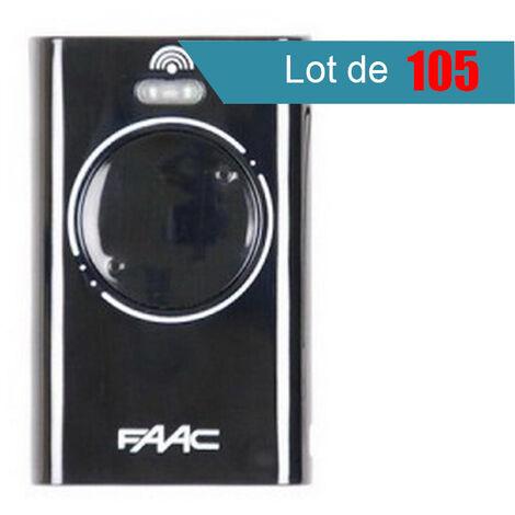 Télécommande FAAC XT2 433 SLH NOIR Pack de 105 - FAAC