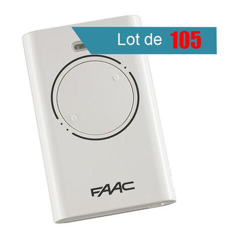 Télécommande FAAC XT2 868 SLH BLANC Pack de 105 - FAAC