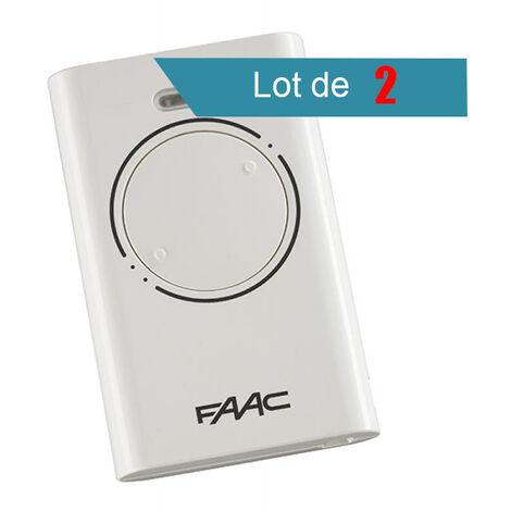 Télécommande FAAC XT2 868 SLH BLANC Pack de 2 - FAAC