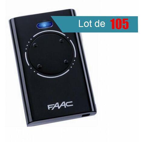 Télécommande FAAC XT4 868 SLH NOIR Pack de 105 - FAAC