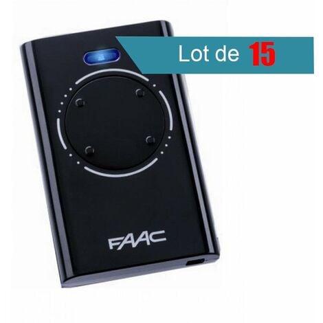 Télécommande FAAC XT4 868 SLH NOIR Pack de 15 - FAAC