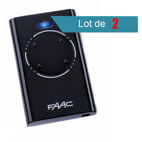 Télécommande FAAC XT4 868 SLH NOIR Pack de 2 - FAAC