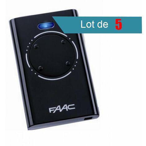 Télécommande FAAC XT4 868 SLH NOIR Pack de 5 - FAAC