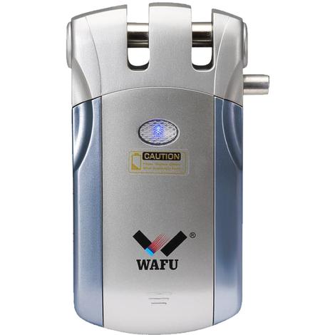 Telecommande Sans Fil Lock Intelligent, 4 Touches a Distance, Bleu Et Argent, Wafu