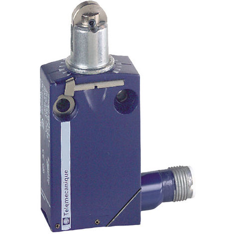 Telemecanique XCMD2102M12 Metal Roller Plunger 1C/O Snap M12 Limit Switch