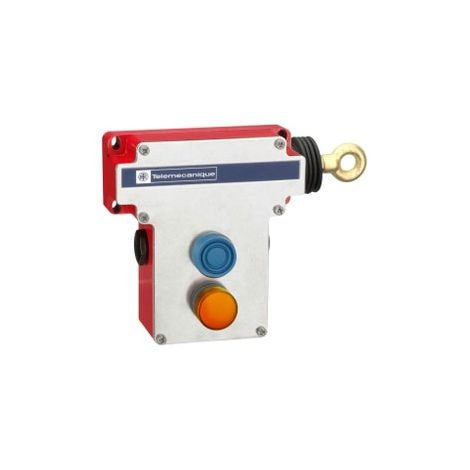Telemecanique XY2CE1A296 2NC+2NO Pilot Light RH Side E-Stop Rope Pull Switch