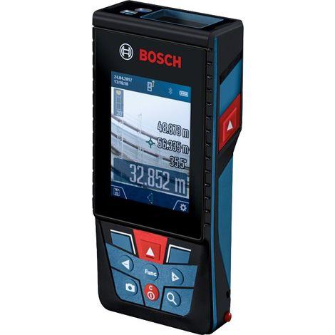 Télémètre 120 m BOSCH connecté avec caméra pour mesure extérieur et intérieur - GLM120C