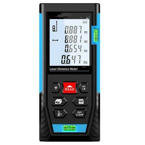Télémètre Laser 50m, Metre Laser, Calcule Distance Surface Volume, Fonction Pythagore, Stocker 99 données, Fonction Muet IP54