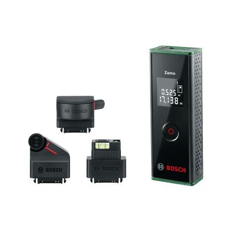 Télémètre Laser Bosch - Zamo Set (3e Génération, Portée: jusqu'à 20m, livré avec 2 piles 1,5 V LR03 (AAA) et boîte en carton)