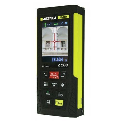Télémètre Laser Metrica Flash C100 - Avec Caméra Jusqu'à 100m