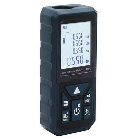 Télémètre Laser Numérique, 50m Mètre laser numérique,Mesure du théorème de longueur/ Volume/ Zone/ Théorème de Pythagore avec Rétroéclairage LCD IP54