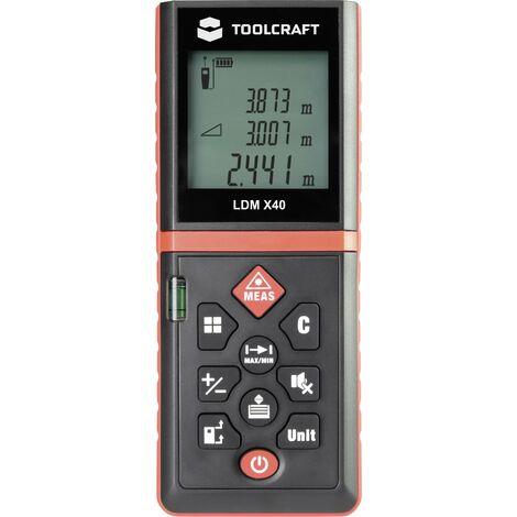 Télémètre laser TOOLCRAFT TO-4859223 Plage de mesure (max.) 40 m 1 pc(s) X904191