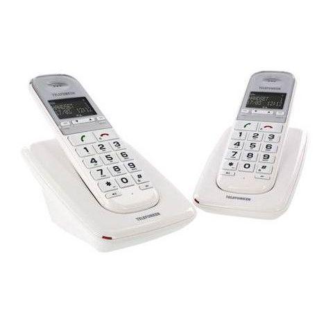 Téléphone fixe sans fil sans répondeur TD 302 Pillow duo blanc - blanc