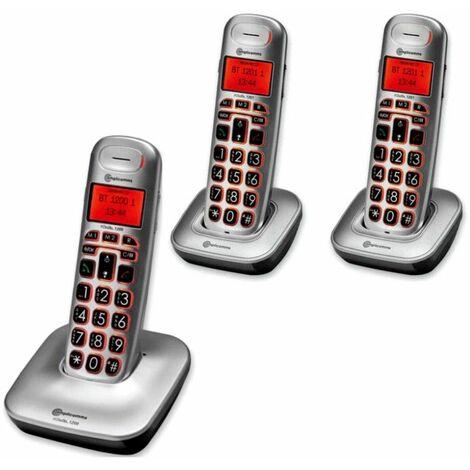 Téléphone Fixe Senior BIGTEL TRIO CLASSIC 1203, Amplicomms - Gris