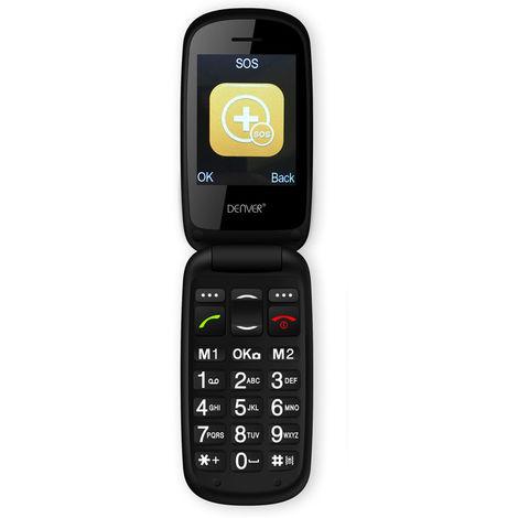 Téléphone portable avec boutons SOS, rouge