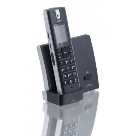Téléphone Sans Fil FreeTel III avec Amplification d'Ecoute, Classique - noir