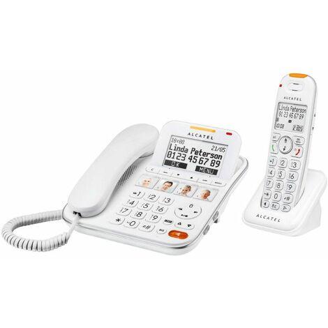 Téléphone Senior Fixe XL 650 Combo Alcatel - blanc