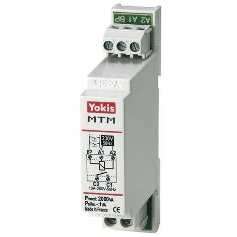 Telerruptor 2000W minutero de escaleras cableado Yokis By Golmar MTM2000M