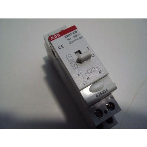 Télérupteur 16A unipolaire 1F E251T 230V ABB 435004