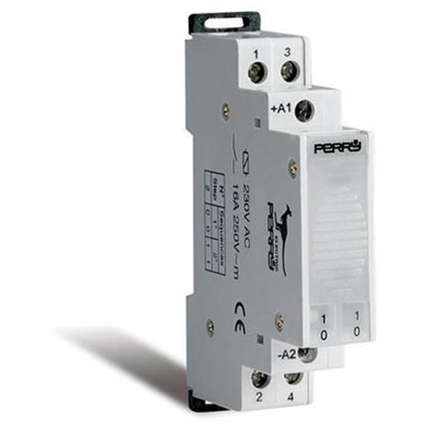 Télérupteur électromécanique 1 DIN 2 contacts 2 séquences 16A 24V CA - Perry