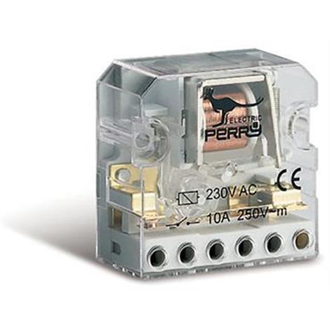 Télérupteur électromécanique 2 contacts 2 séquences 10A 12V CA - Perry