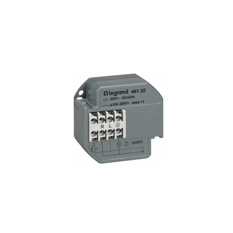 Télérupteur Encastré Legrand 1p - 10 ax - 230 v~ - 50/60 hz - intensité max acceptée 50 ma