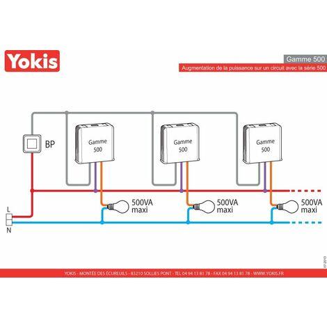 Gamme 50hertz Telerupteur Modulaire Yokis Mtr500m 230v qUzMSGLVp