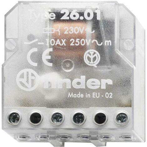 """main image of """"Télérupteur pour encastrement Finder 26.01.8.012.0000 1 NO (T) 12 V/AC 10 A 2500 VA 1 pc(s) S72200"""""""