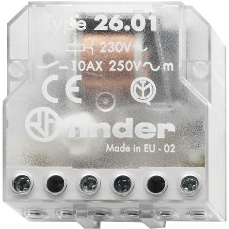 """main image of """"Télérupteur pour encastrement Finder 26.01.8.230.0000 1 NO (T) 230 V/AC 10 A 2500 VA 1 pc(s) S72223"""""""