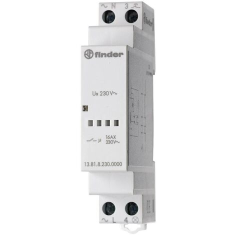 Télérupteur pour profilé Finder 13.81.8.230.0000 1 NO (T) 230 V/AC 3700 VA 1 pc(s)