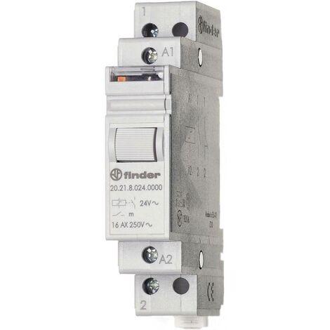 Télérupteur pour profilé Finder 20.21.9.024.4000 1 NO (T) 24 V/DC 16 A 4000 VA 1 pc(s)