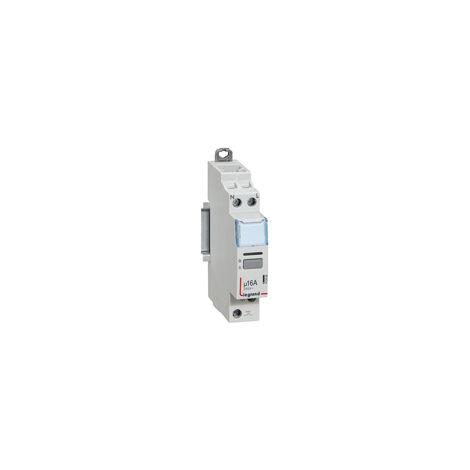 Télérupteur silencieux bornes vis 16A 250V contact 1F - 1 module - Legrand