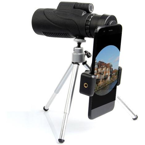 Télescope monoculaire optique zoom 40x60 HD et mini trépied vision nocturne pour le camping avec trépied