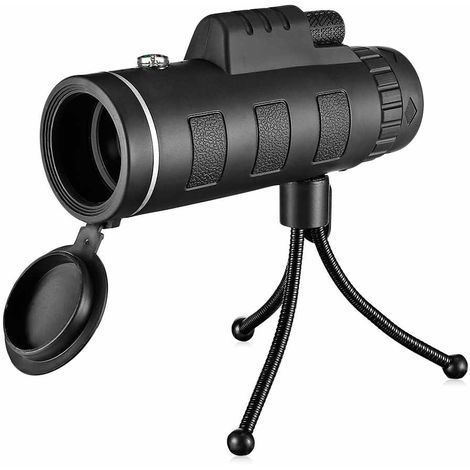 Télescope portable monoculaire avec pince pour téléphone et trépied, 40x60