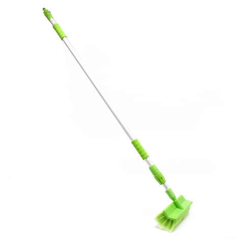 Telescopic Car Wash Brush Extendable up to 250cm with Garden Hose Connection and Water Flow Control