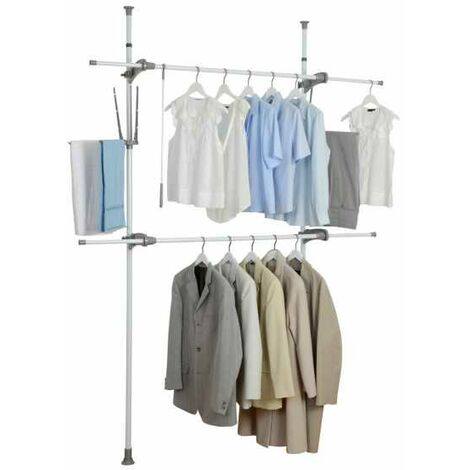 Telescopic clothes rack system Herkules Flex WENKO