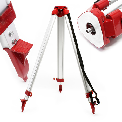 Telescopic Construction Tripod Stand Extendable Cross Line Laser Mount 162.5cm Maximum Height