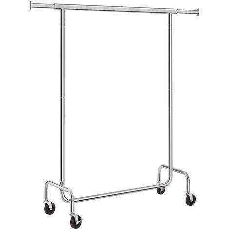 Telescopic Drying Clothes Rack Heavy Duty Standing Coat Rack Storage Shelf (110-150CM)