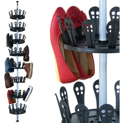 Telescopic Shoe Rack System - Shoe Storage Shelf 80cm - 2.8m 8 Tier Organizer