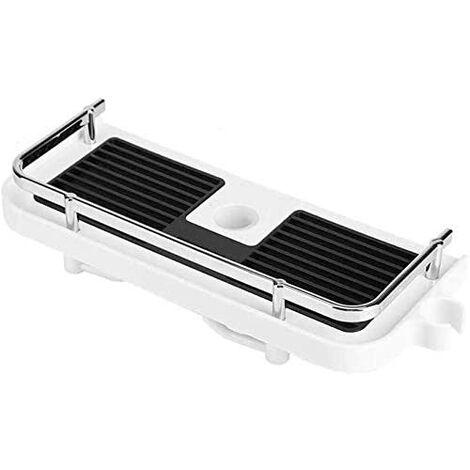 Telescopic Shower Shelf / Drill-Free Assembly / Bathroom Organizer / Fits 18mm-25mm Diameter Shower Rods / White