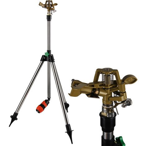 Telescopic Tripod Sprinkler to 120 cm Sprinkler Range 24 m Sprinkling Lawn
