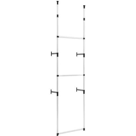 Telescopic Wardrobe System with Rods Aluminium