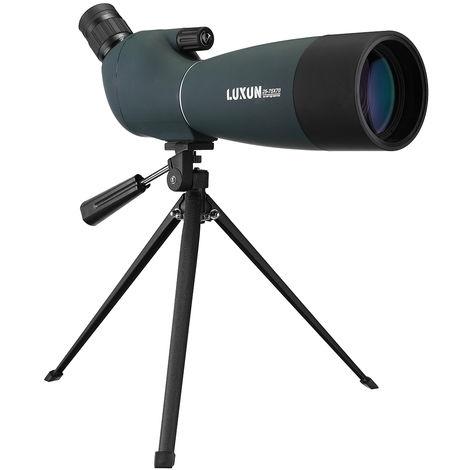 Telescopio monocular 25-75 X 70 HD Zoom impermeable BAK4 Seguimiento + Trípode de teléfono Hasaki